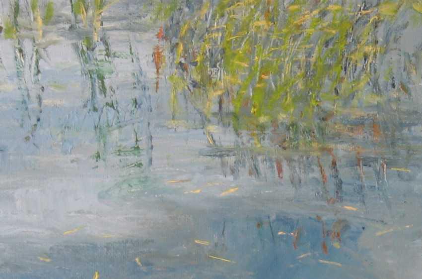 Ivan Ormanzhi. Original landscape painting oil on canvas, Ducks On The Lake - photo 2