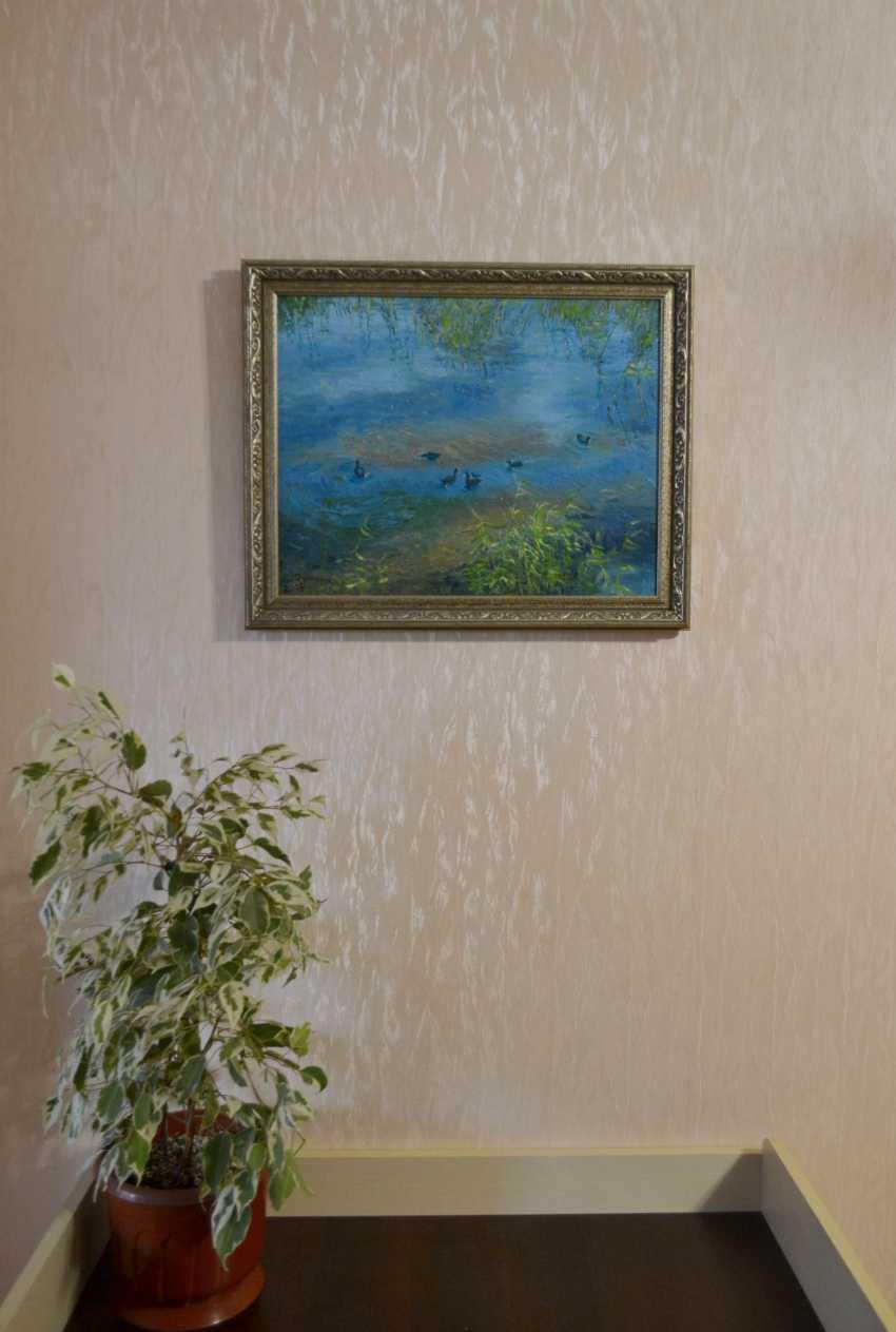Ivan Ormanzhi. Original landscape painting oil on canvas, Ducks On The Lake - photo 6