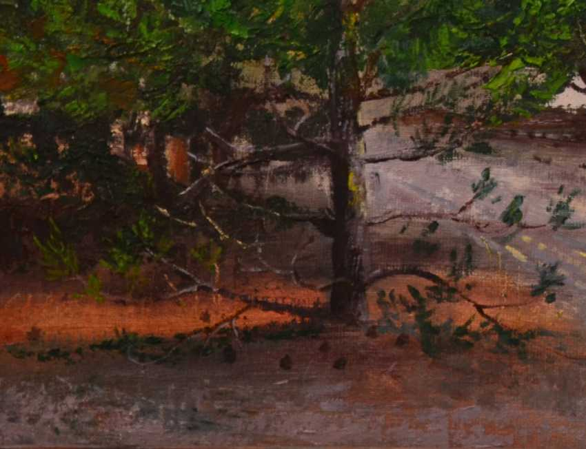 "Ivan Ormanzhi. Original landscape painting oil on canvas: ""The path between the small pines"" - photo 2"