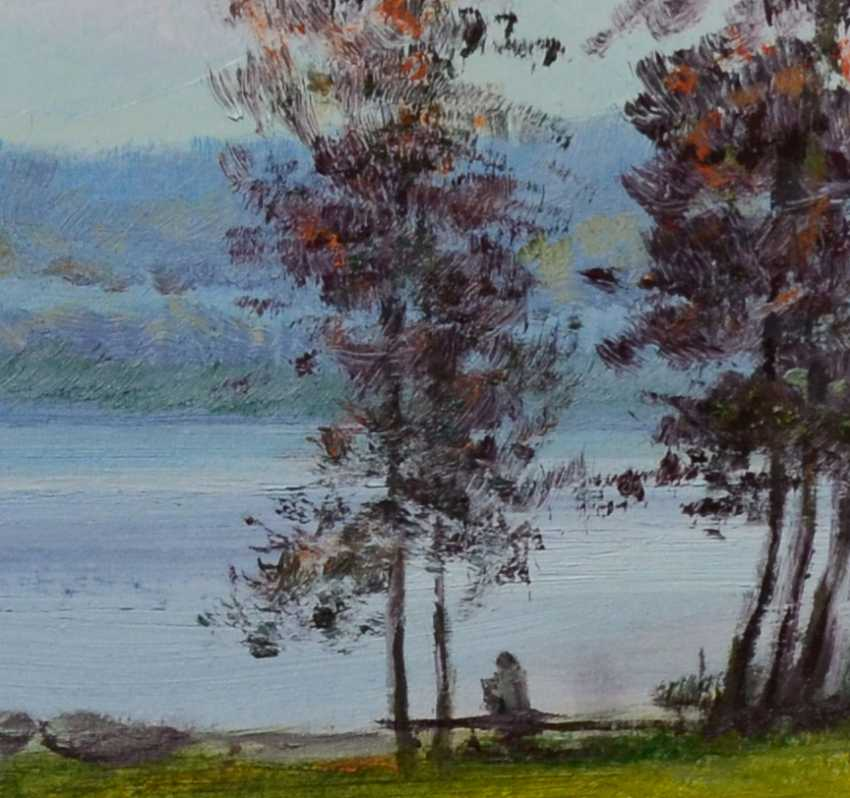 Ivan Ormanzhi. Original landscape painting oil on canvas, Silent evening near Dnepr river - photo 2