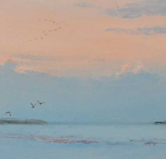 Ivan Ormanzhi. Original landscape painting oil on canvas, Birds on the Dnepr river - photo 2