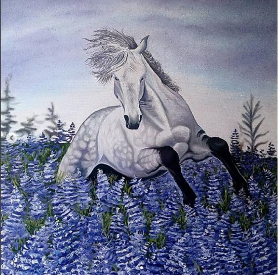 Татьяна Радык. Лошадь в цветах - фото 1