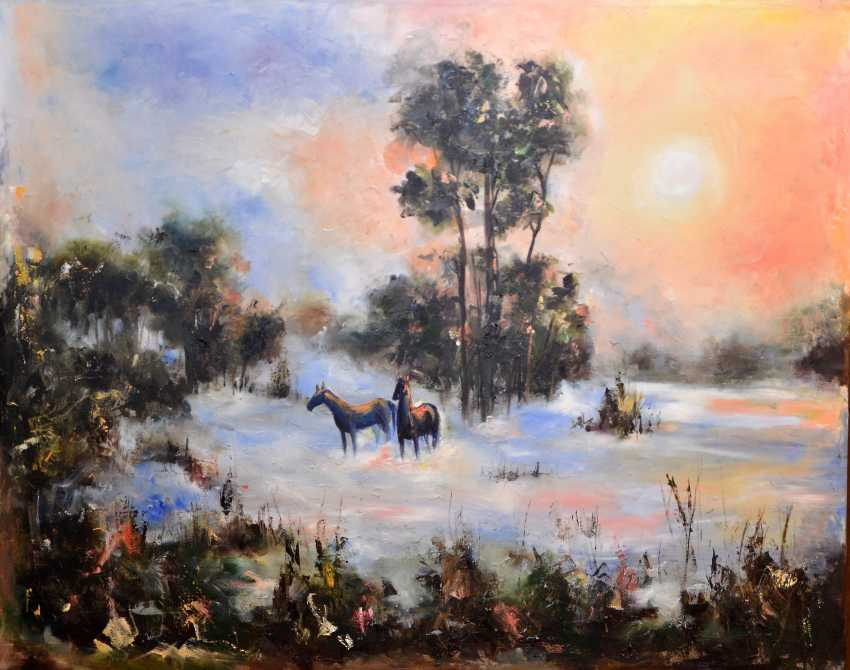 Galina Kolomenskaya. Fog and horses - photo 1