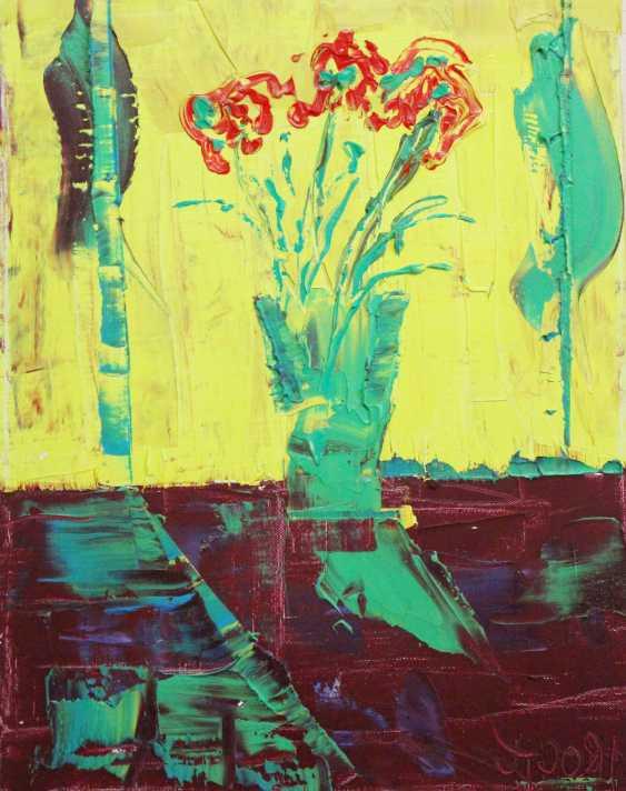 Oleg Troyan. Flowers on yellow - photo 1