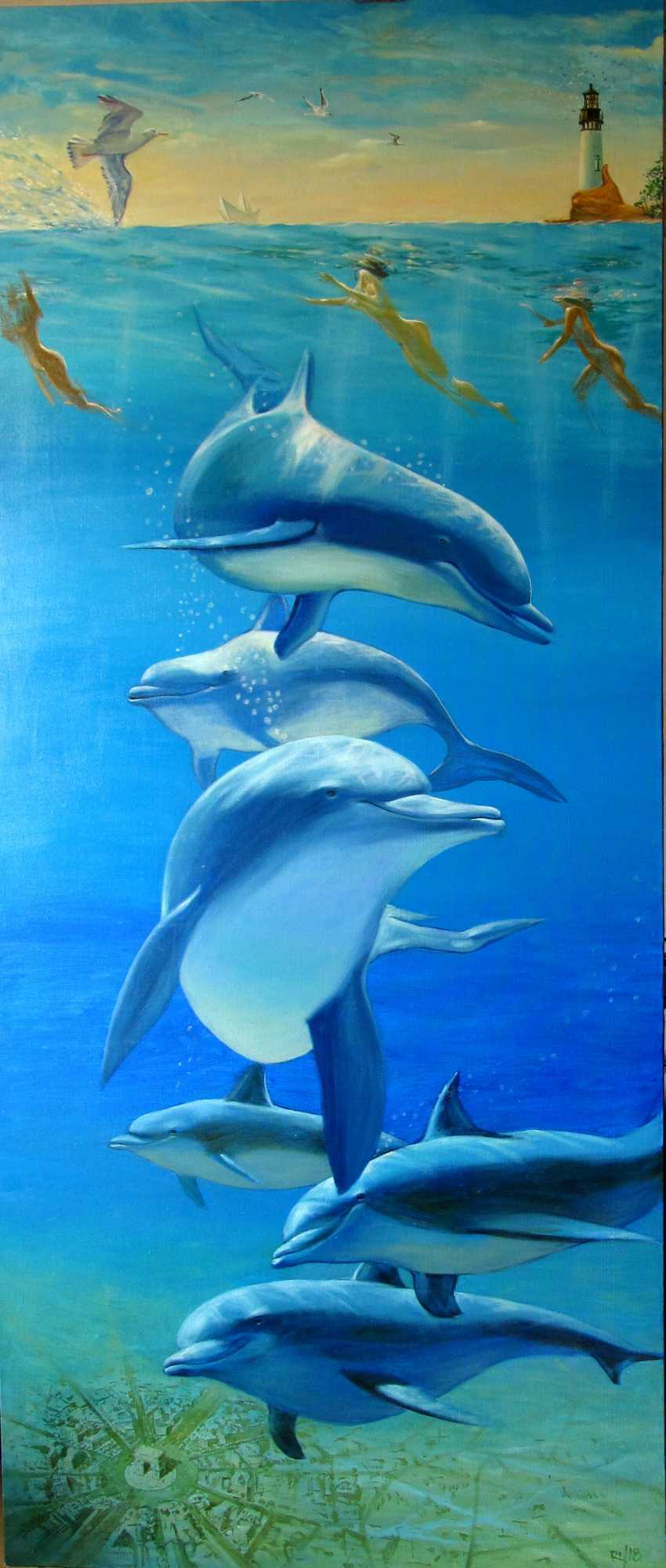 Sergiy Roy. Why are dolphins so mysteriously smiling ? - photo 1