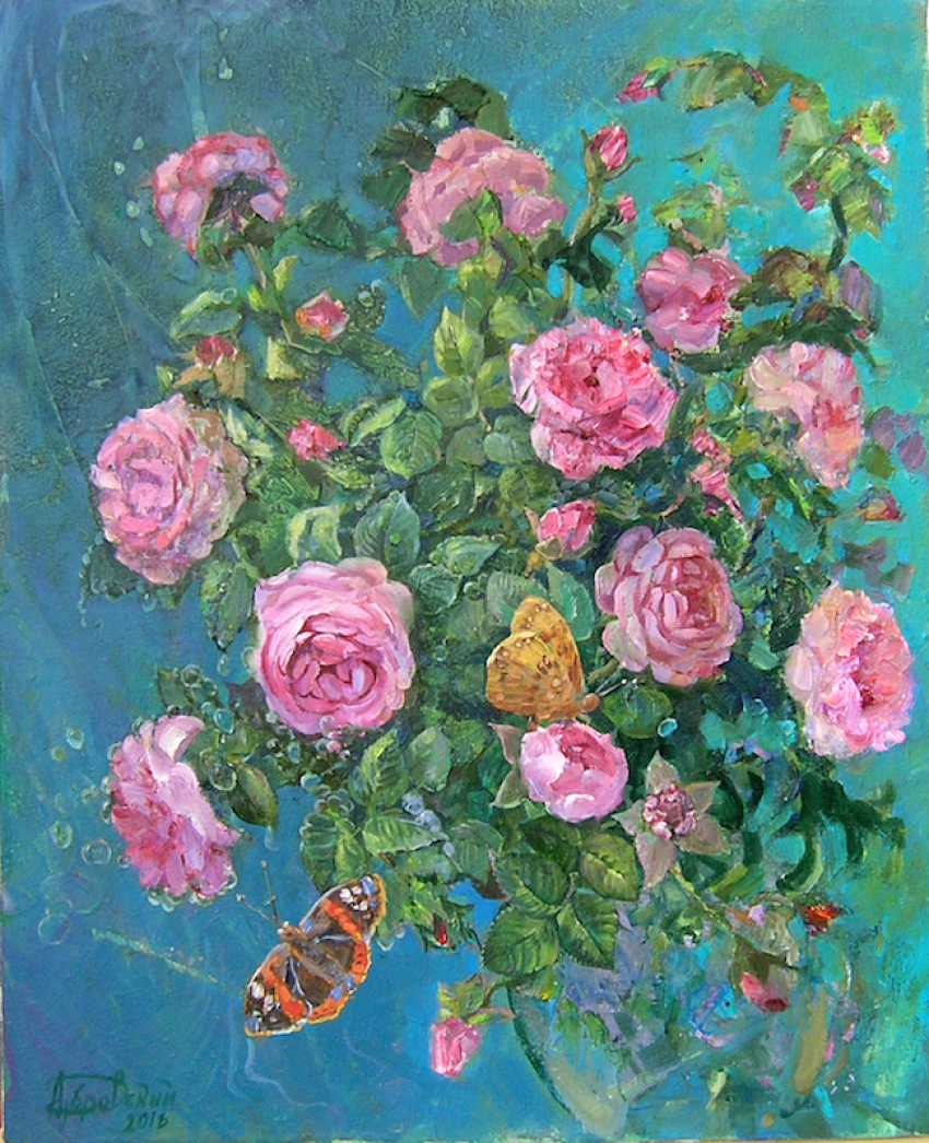 Aleksandr Dubrovskyy. Roses and Butterflies-Roses and Butterflies - photo 1