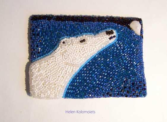 """Helen Kolomoiets. Brooch """"White bear"""". Brooch """"Polar bear"""". - photo 1"""