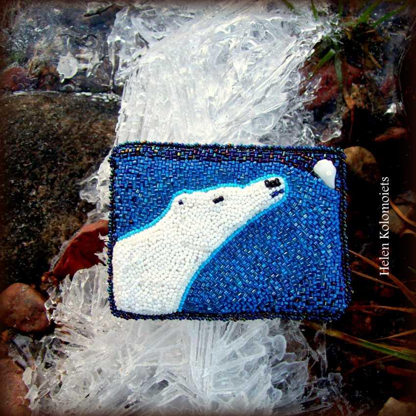 """Helen Kolomoiets. Brooch """"White bear"""". Brooch """"Polar bear"""". - photo 4"""