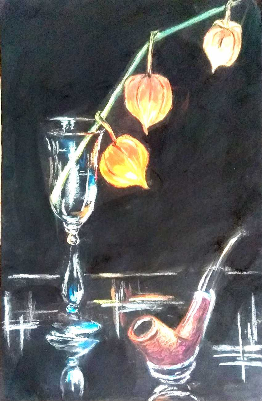 Elena Zorina. Still life with physalis - photo 1