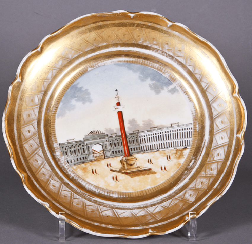 Plate .Russia, private factory , mid 19th century - photo 1