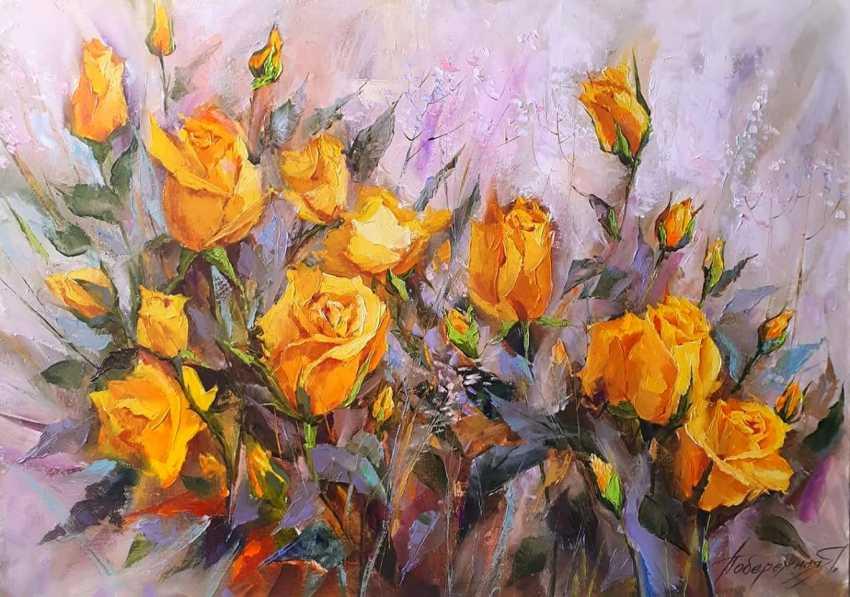 Yana Poberejnaia. Yellow roses - photo 1