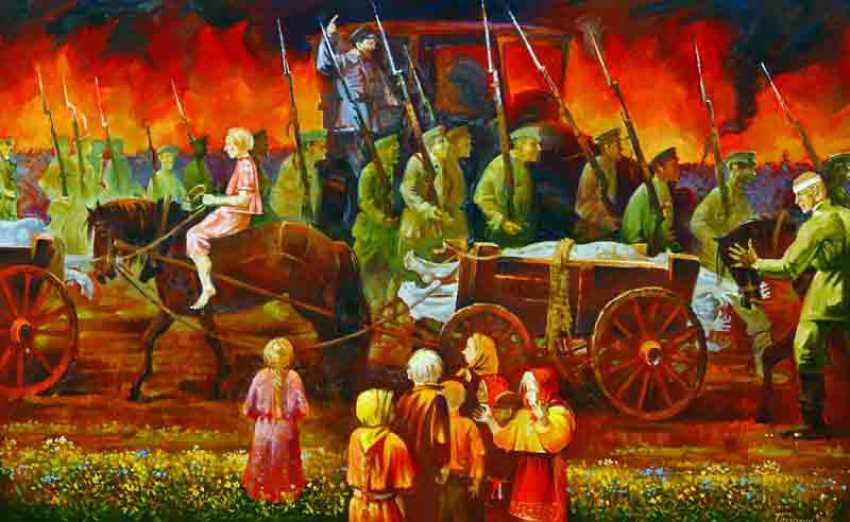 Vasily Ptyukhin. Der Bürgerkrieg - Foto 1