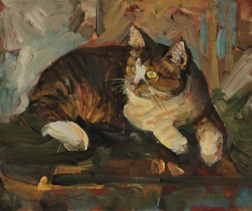 Leonenko Yevhen. The cat on the stool. - photo 1