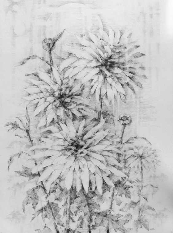 "Yuri Kalashnikov. ""Chrysanthemums"" - photo 1"