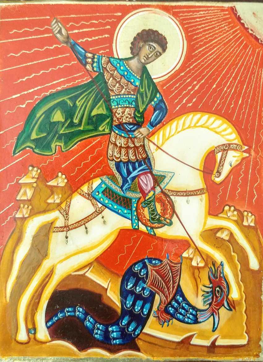 Irina Vygovskaya. Icon George George on horseback - photo 1