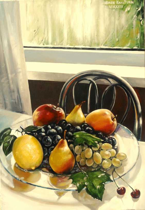 Andrew Khalturin. Group portrait of fruit on a platter on a rainy day - photo 1