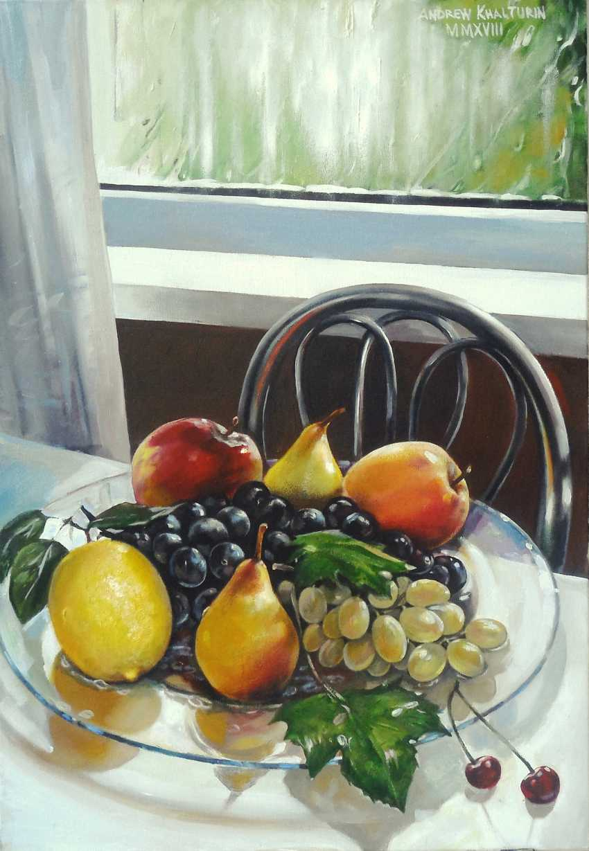 Andrew Khalturin. Group portrait of fruit on a platter on a rainy day - photo 2