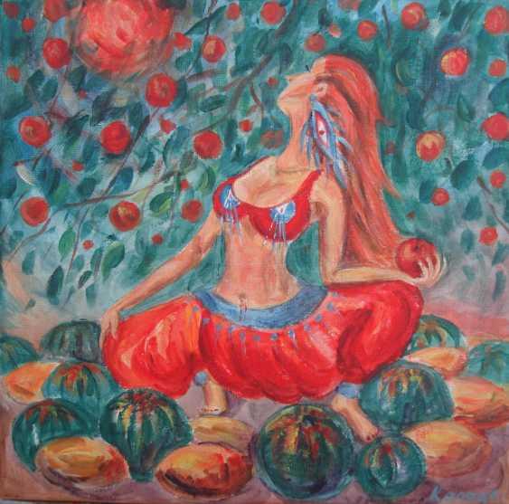 Julia Koliada. Рыжая йогиня в осеннем саду - photo 1