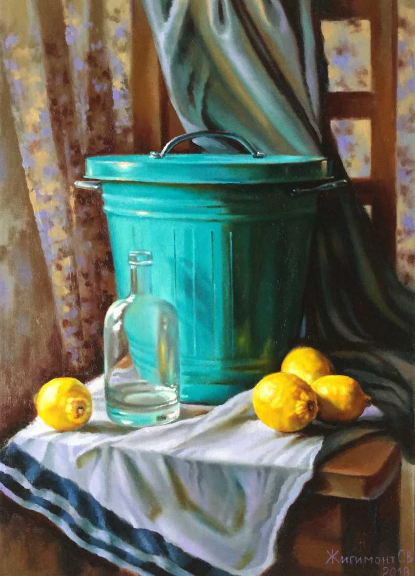 Svetlana Zhigimont. Stillleben mit Zitronen - Foto 1