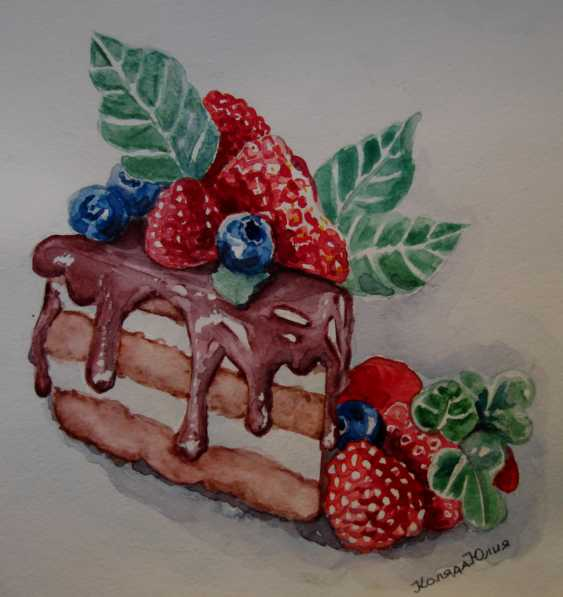 Julia Koliada. Cake with berries - photo 1
