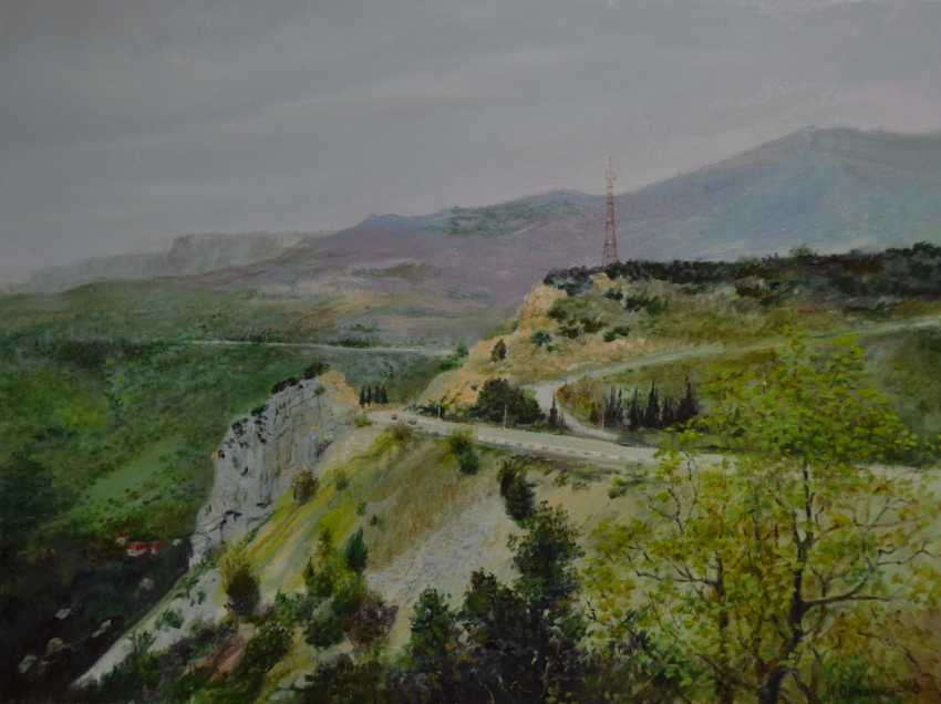 "Ivan Ormanzhi. Crimea. Simeiz. View from the mountain ""Cat"", the road to Sevastopol. - photo 1"
