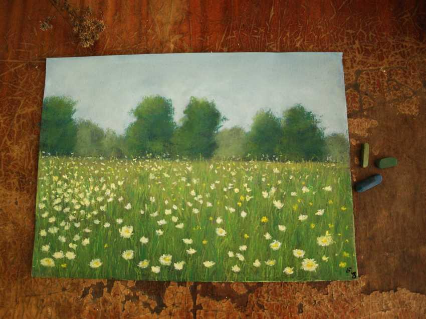 nino gudadze. Soft Pastel Painting. Pastel Landscape painting - photo 2
