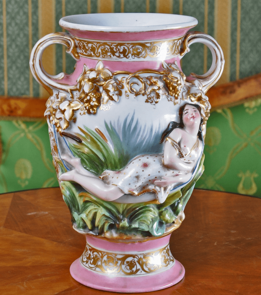 Vase., China,Russia, private factory, late 19th - photo 2