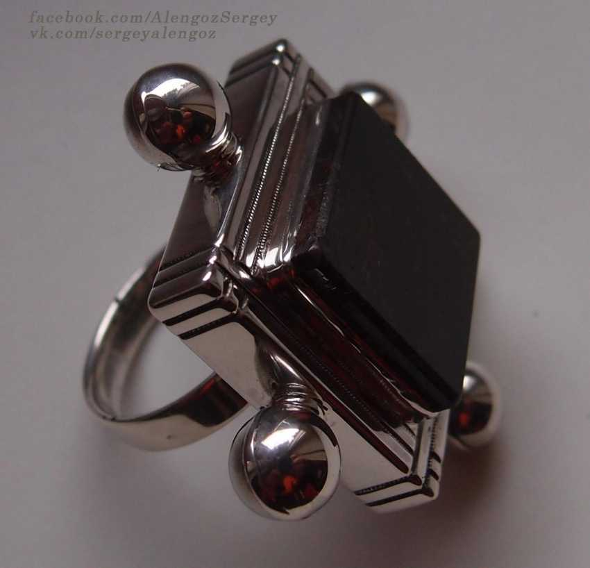"Sergey Alengoz. A ring ""Almost the black square"" - photo 2"