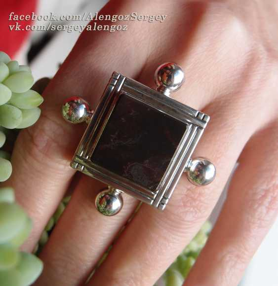 "Sergey Alengoz. A ring ""Almost the black square"" - photo 3"