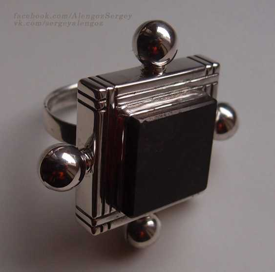 "Sergey Alengoz. A ring ""Almost the black square"" - photo 4"