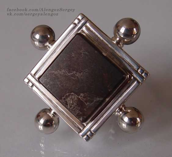 "Sergey Alengoz. A ring ""Almost the black square"" - photo 5"