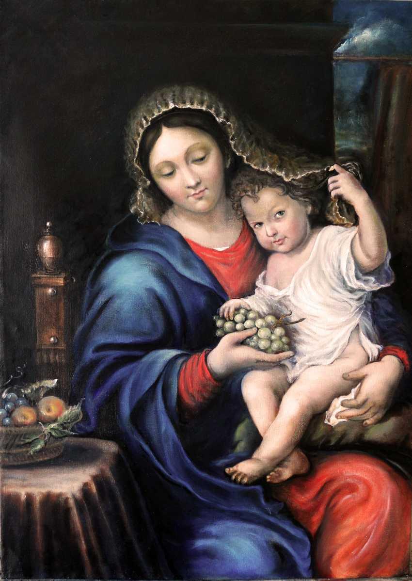 Boris Merkulov. Madonna mit Trauben гроздью - Foto 1