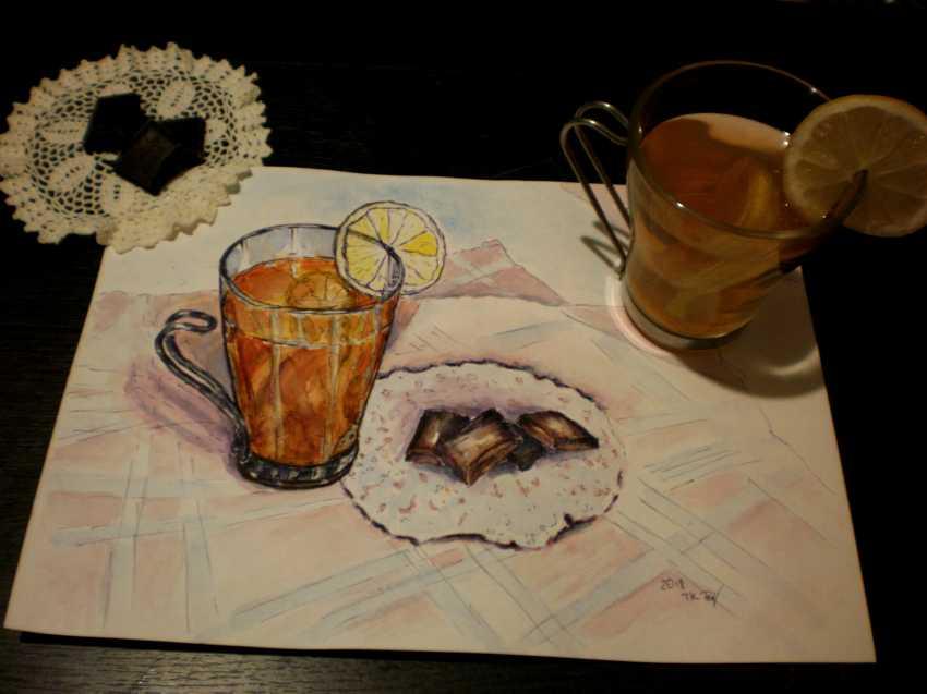 "Tatyana Kazimir. The Sketch ""Tea"" - photo 1"