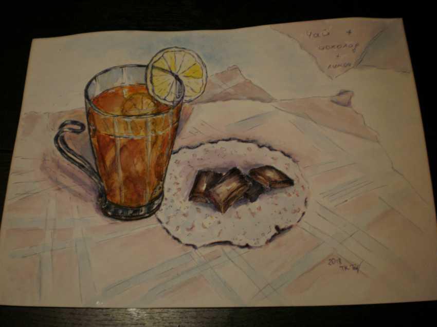 "Tatyana Kazimir. The Sketch ""Tea"" - photo 2"