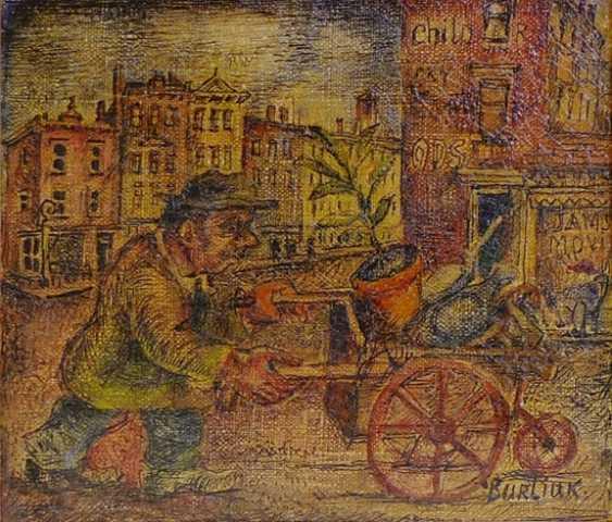 "BURLIUK DAVID DAVIDOVICH ""MAN WITH WHEELBARROW"" - photo 1"
