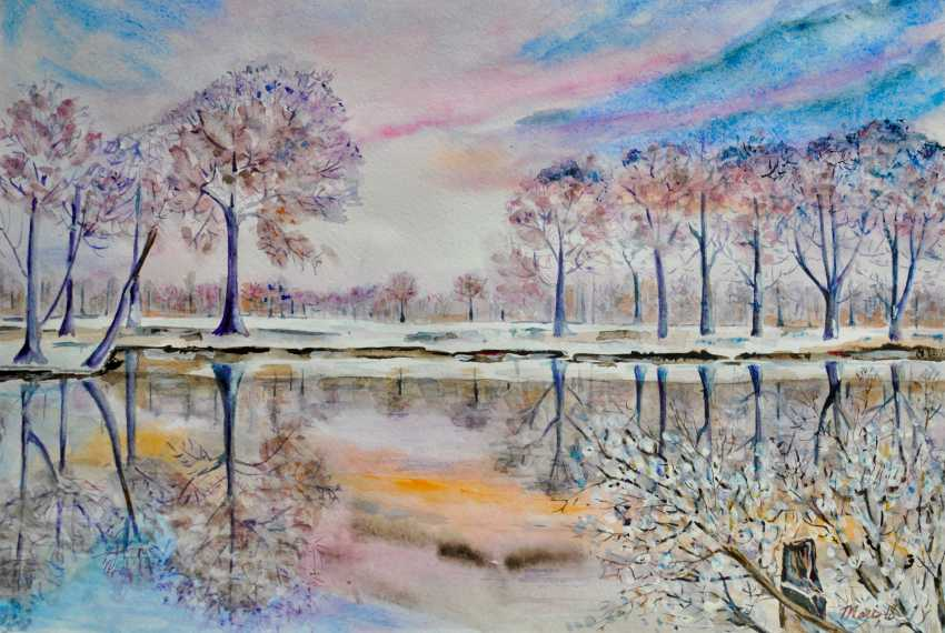 "Maryna Pashchenko. ""First snow on the river"". - photo 1"