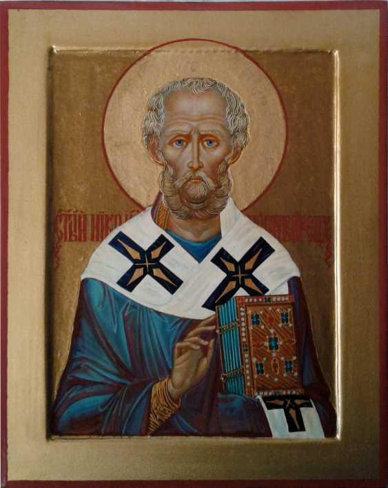 Gennadiy Stepanov. Ikone Heiliger Nikolaj Tschudotworez - Foto 1
