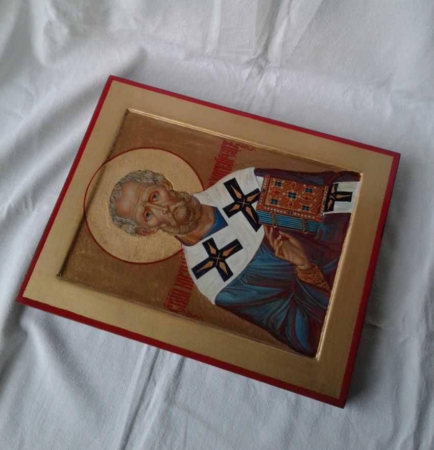 Gennadiy Stepanov. Ikone Heiliger Nikolaj Tschudotworez - Foto 3