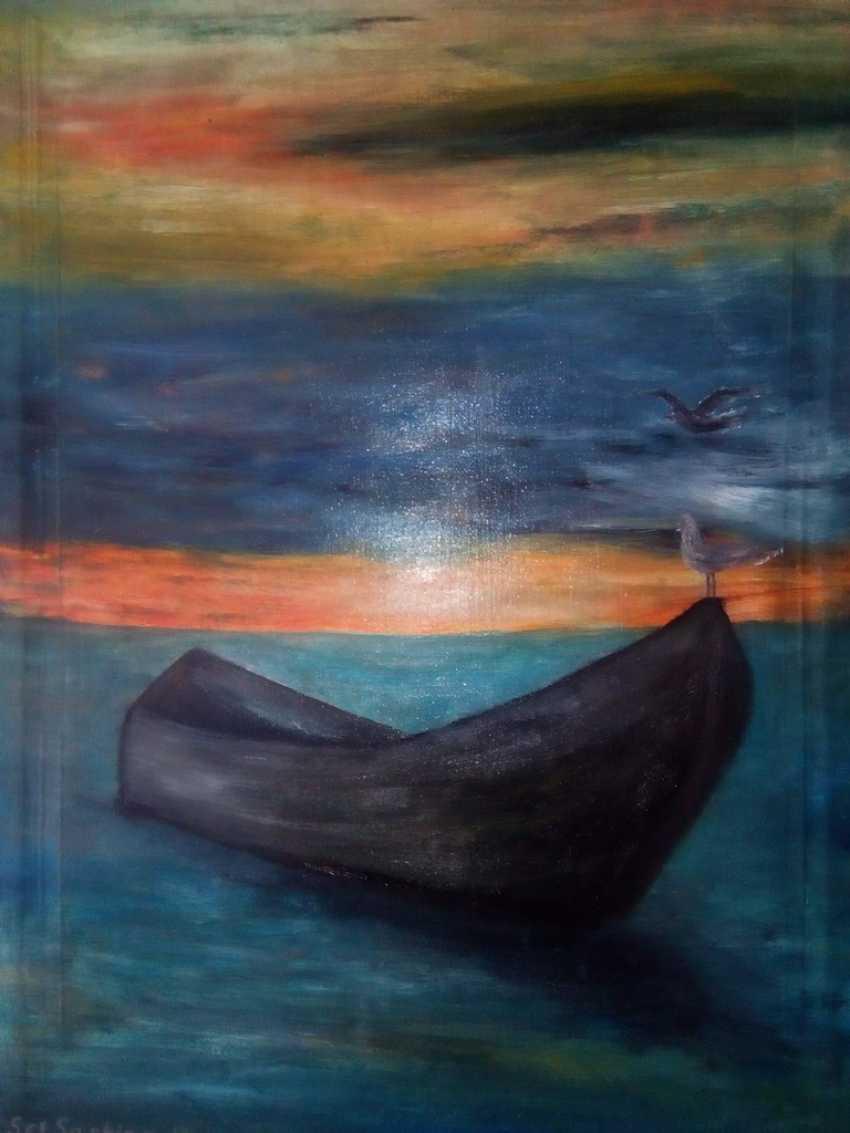 "Elena Podust. ""Boat in the sunset sea"" - photo 1"