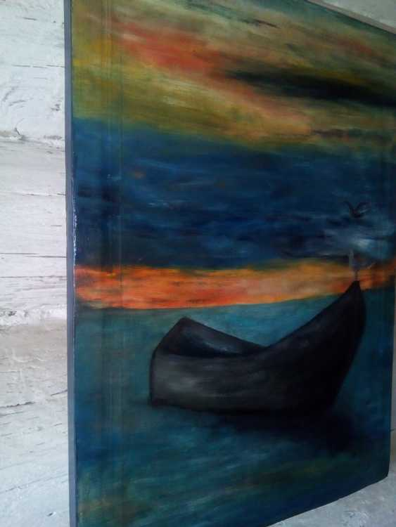 "Elena Podust. ""Boat in the sunset sea"" - photo 2"