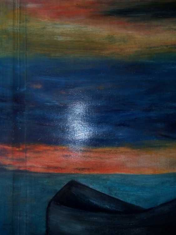 "Elena Podust. ""Boat in the sunset sea"" - photo 4"