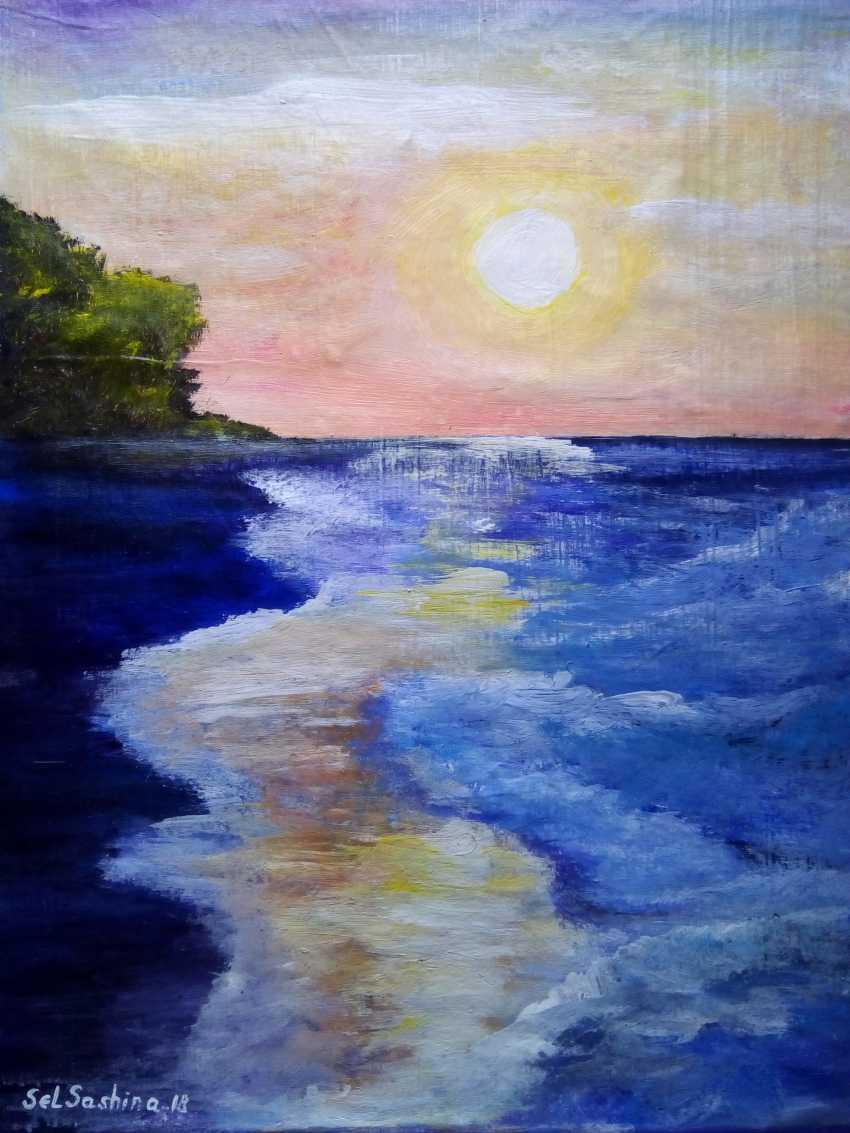 "Elena Podust. ""Purple ocean"" - photo 1"