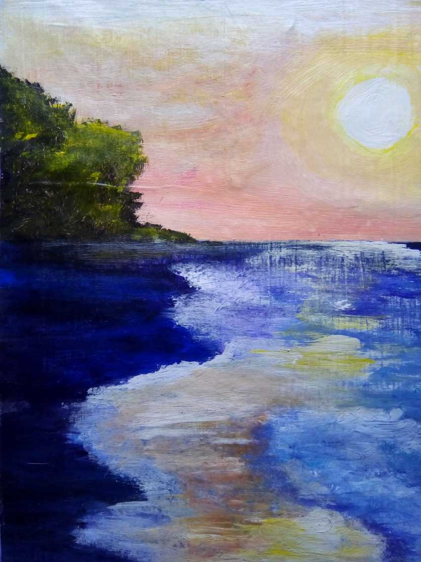 "Elena Podust. ""Purple ocean"" - photo 4"