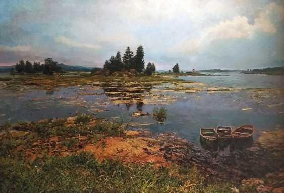 """Maxim Bulaev. """"Evening on the lake."""" - photo 1"""