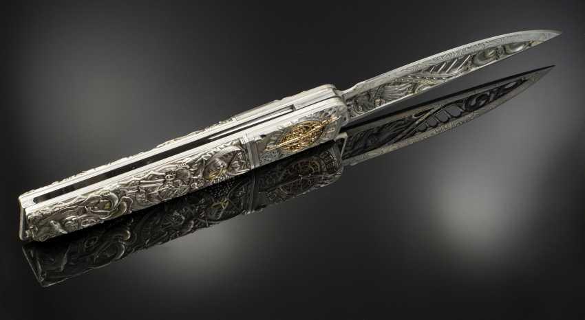"Andrey Shurinov. The knife folding in box ""the glass bead Game, Das Glasperlenspiel"". - photo 3"