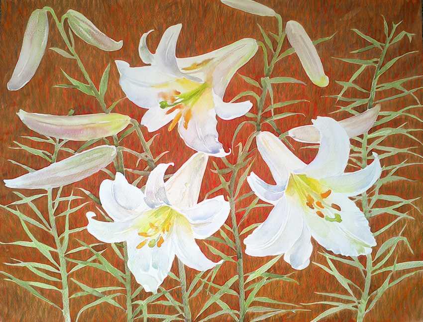 Alina Mezybovskaya. Picture Of A Lily. Heat, - photo 1