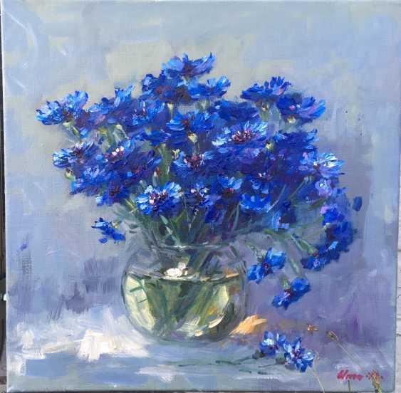 Irina Umanskaya. Cornflowers in a vase skladnoy - photo 1