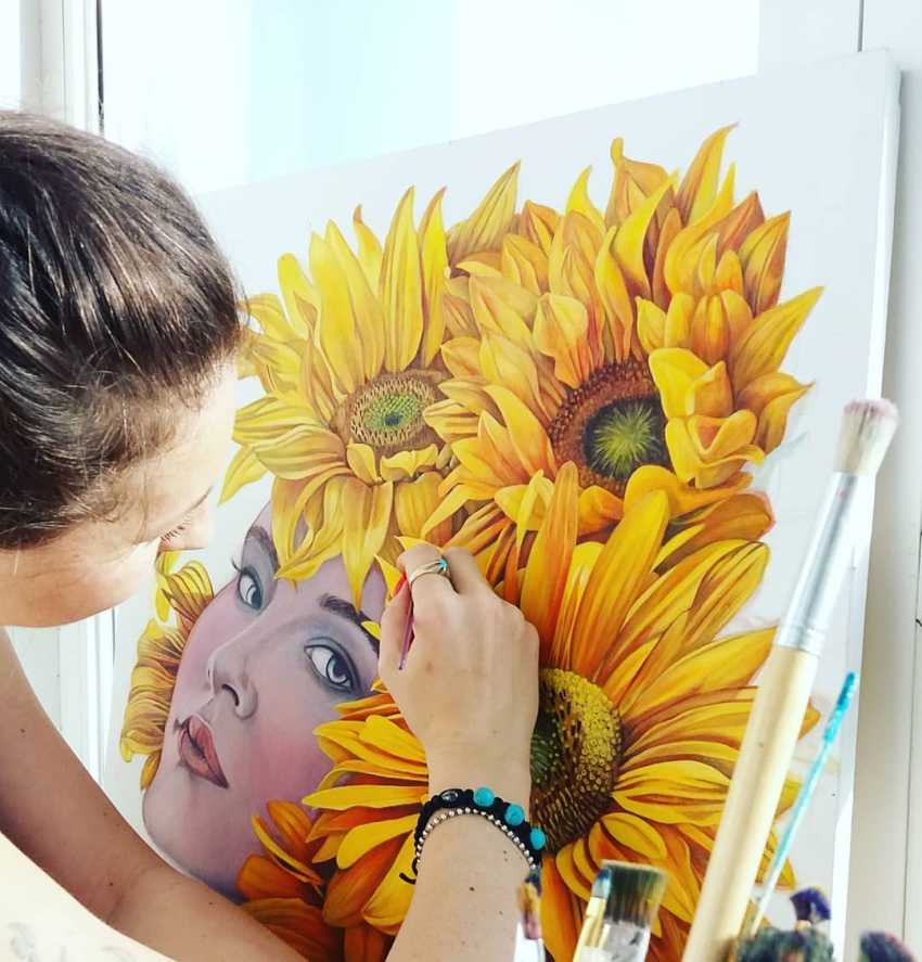 Olena Lytvynenko. Sunflower. - photo 2