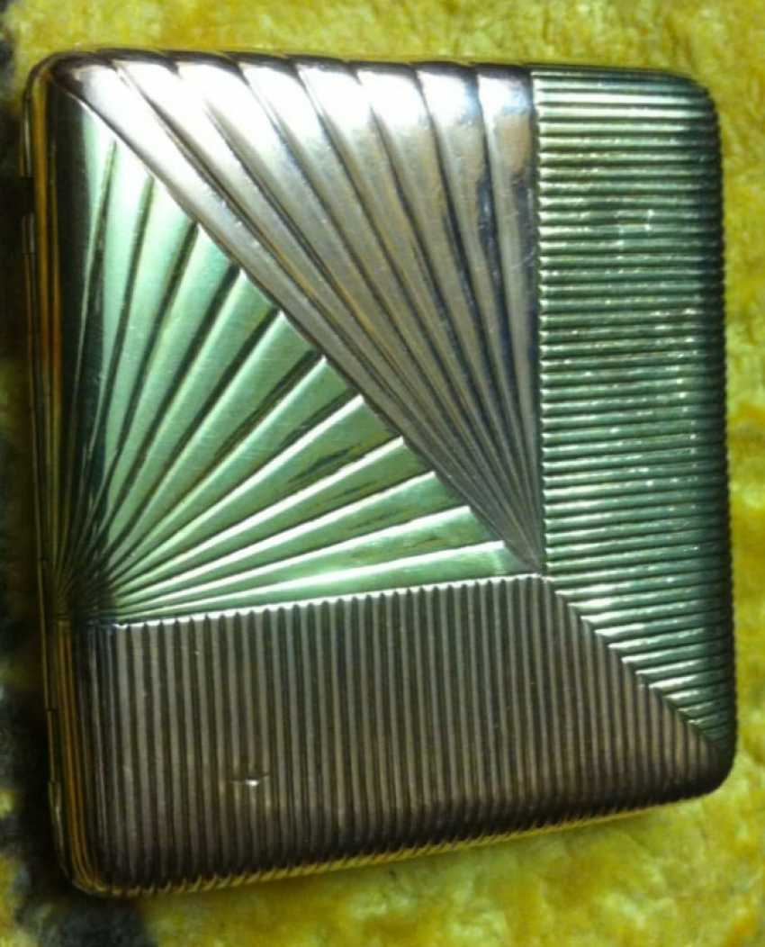 Cigarette case gold 56 samples 19th century great job - photo 1