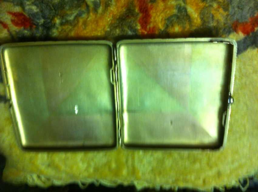 Cigarette case gold 56 samples 19th century great job - photo 2